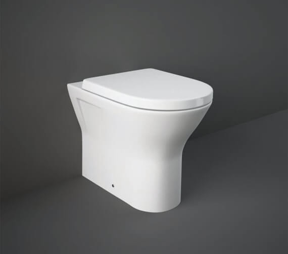 RAK Resort 400mm High Back To Wall Rimless WC Pan With Soft Close Seat