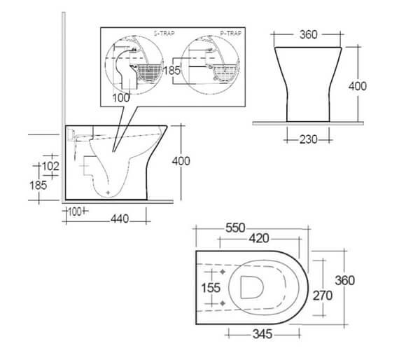 Technical drawing QS-V99738 / RSTBTWPAN/SC