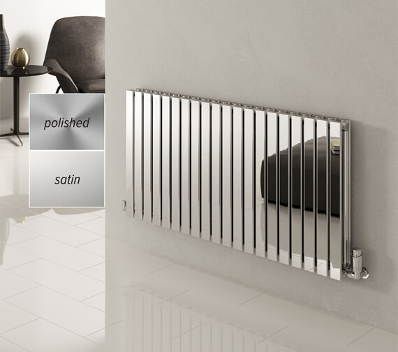 Reina Flox 600mm High Double Panel Stainless Steel Radiator