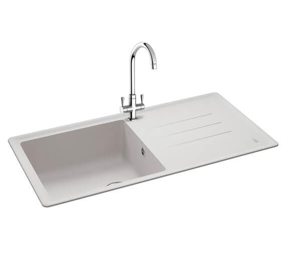 Carron Phoenix Debut 105 Polar White 1.0 Bowl Inset Kitchen Sink
