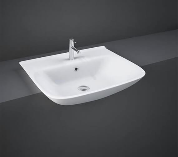 RAK Origin 520mm Wide Semi-Recessed Basin With 1 Tap Hole