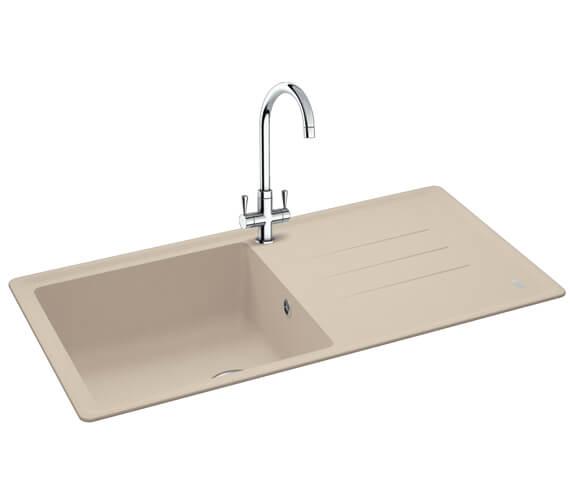 Additional image of Carron Phoenix Debut 105 Polar White 1.0 Bowl Inset Kitchen Sink