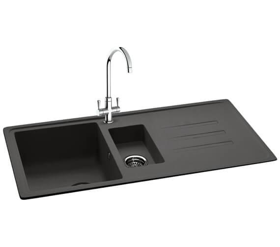 Carron Phoenix Debut 150 Jet Black 1.5 Bowl Inset Kitchen Sink