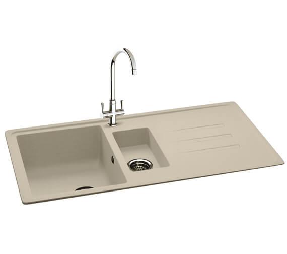 Additional image of Carron Phoenix Debut 150 Jet Black 1.5 Bowl Inset Kitchen Sink