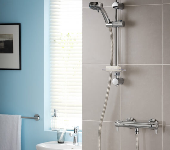 Triton Dene Lever Cool Touch Bar Mixer Shower Kit With Temperature Control