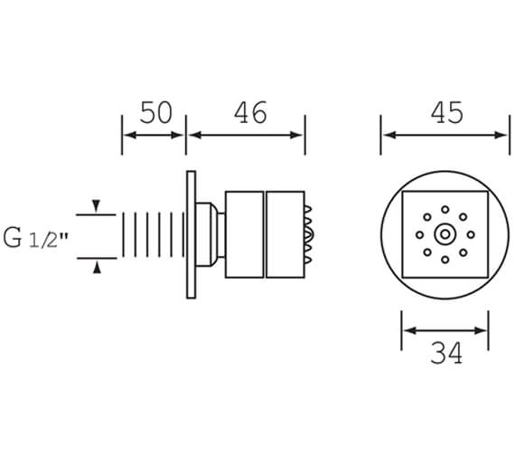 Technical drawing QS-V51210 / JET3 C