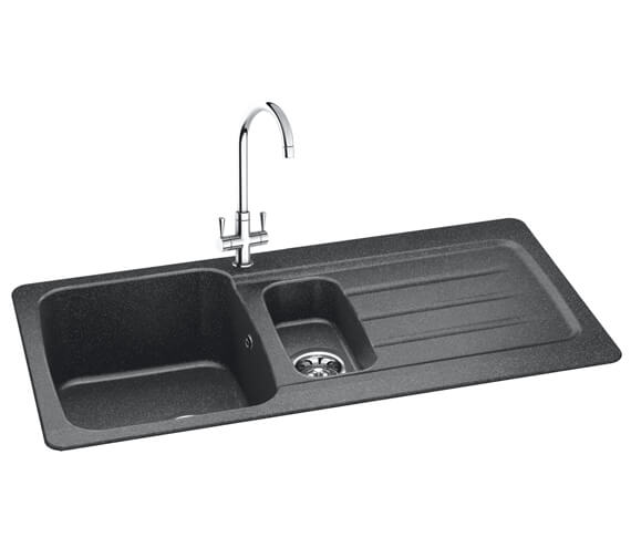 Carron Phoenix Columba 150 Graphite 1.5 Bowl Inset Kitchen Sink