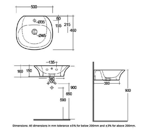 Technical drawing QS-V103026 / SENWB5001AWHA