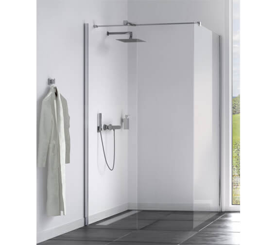 Aqualux Origin 8 Corner Fit Double Walk In Shower Panel With Installation Kit