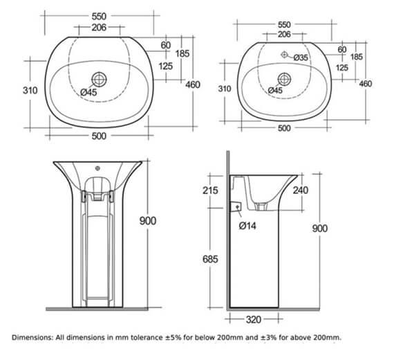 Technical drawing QS-V103027 / SENFS5500AWHA