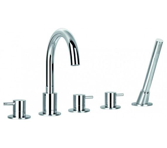Flova Levo 5 Hole Bath Shower Mixer Tap With Shower Set