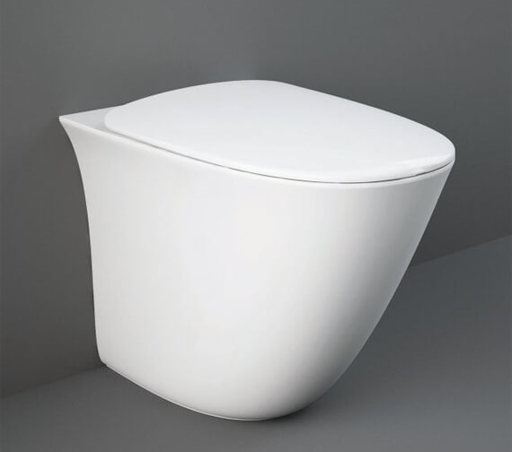 RAK Sensation Back-To-Wall Rimless WC Pan With Urea Soft Close Seat