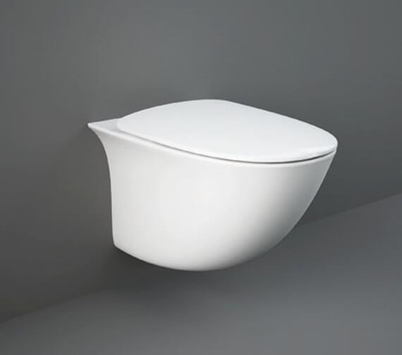 RAK Sensation Mini Wall Hung Rimless WC Pan With Urea Soft Close Seat