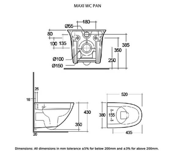 Additional image of Rak Ceramics  SENWHPANSC-MI