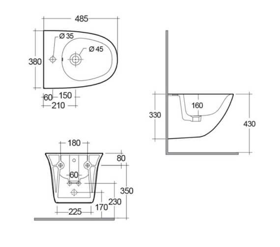 Technical drawing QS-V103033 / SENBD2104AWHA