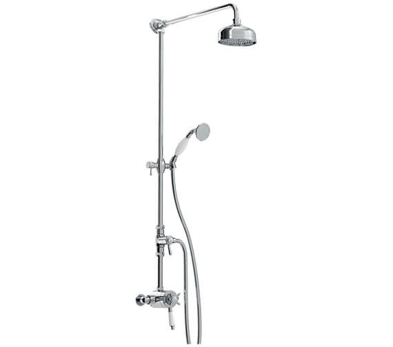 Bristan 1901 Thermostatic Exposed Dual Control Shower Valve With Diverter And Rigid Riser Kit