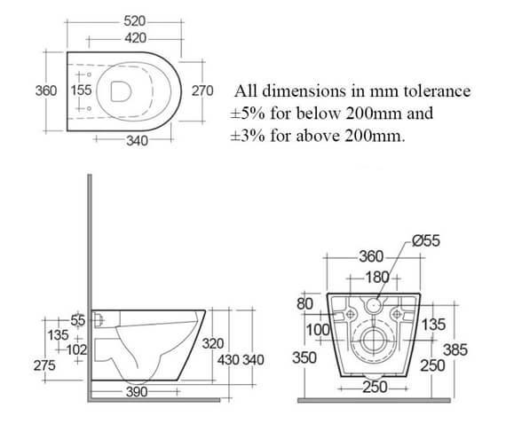 Technical drawing QS-V103025 / RSTWHPAN-HF/SC