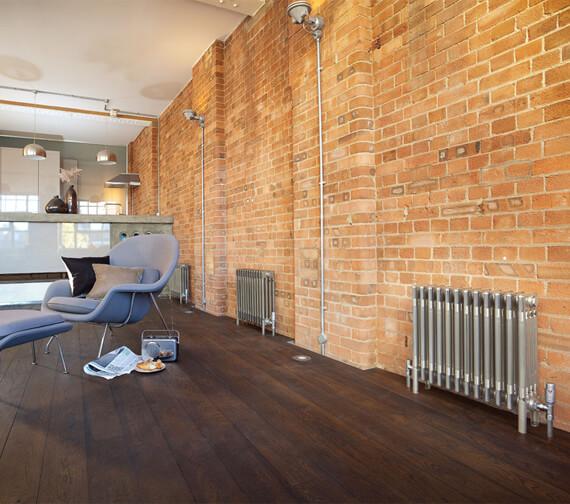 Alternate image of Bisque Classic Floor Standing 4 - 6 Column Radiator With Feet