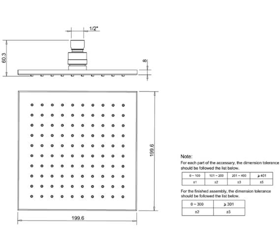 Technical drawing QS-V41835 / FH220C