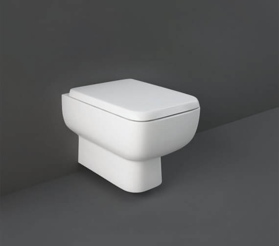 RAK Series 600 Rimless Wall Hung WC Pan With Hidden Fixations And Urea Soft Close Seat