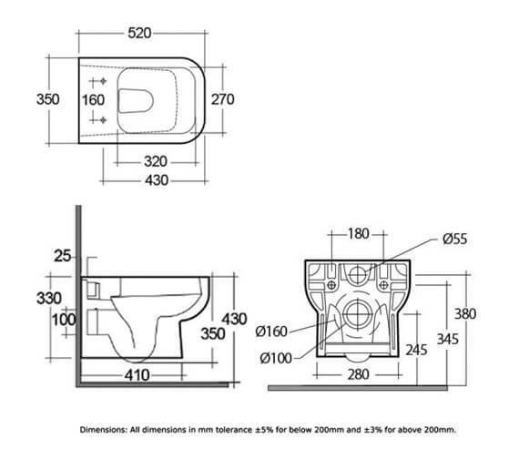 Technical drawing QS-V103035 / S600WHPAN/SC