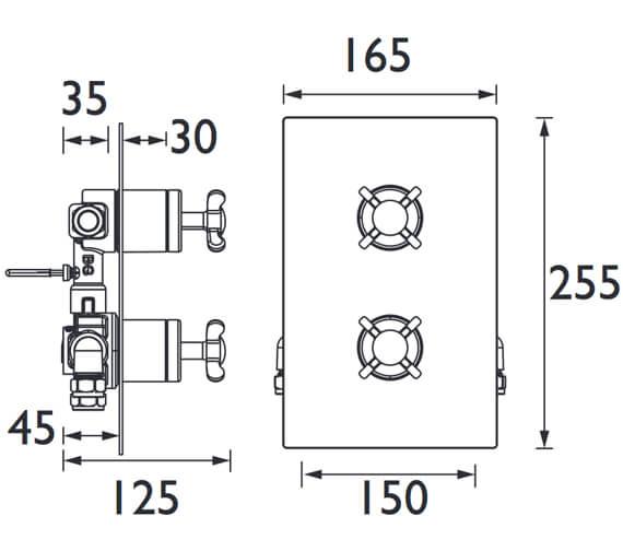Technical drawing QS-V7560 / N2 SHCVO C
