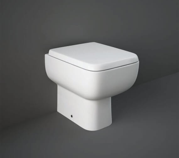 RAK Series 600 Back-To-Wall WC Pan With Soft Close Seat