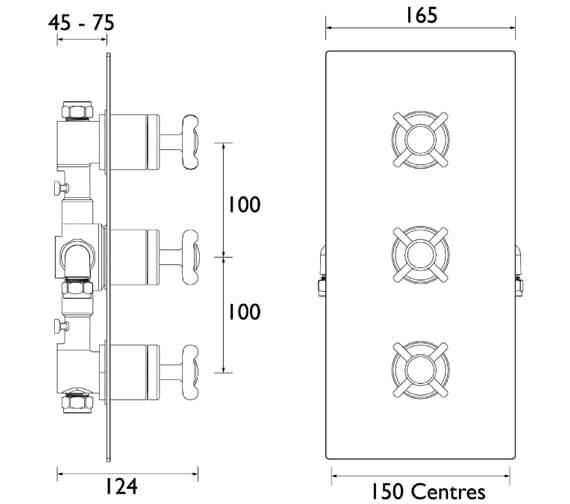 Technical drawing QS-V7556 / N2 SHC3STP C
