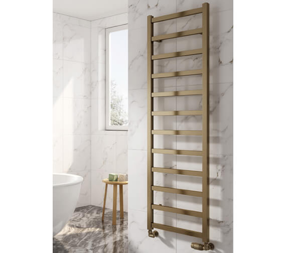 Additional image of Reina Fano 485mm Wide Aluminium Straight Towel Rail