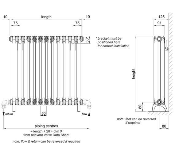 Technical drawing QS-V102760 / TEF-58-60-9010
