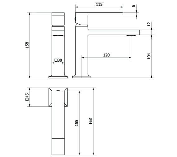 Technical drawing QS-V25436 / ZN114DNC