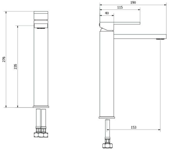 Alternate image of Crosswater Zion Monobloc Basin Mixer Tap