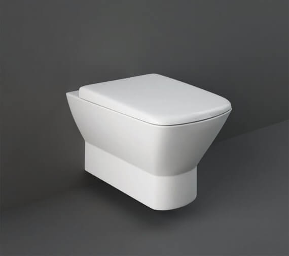 RAK Summit Wall Hung WC Pan With Hidden Fixations And Urea Soft Close Seat