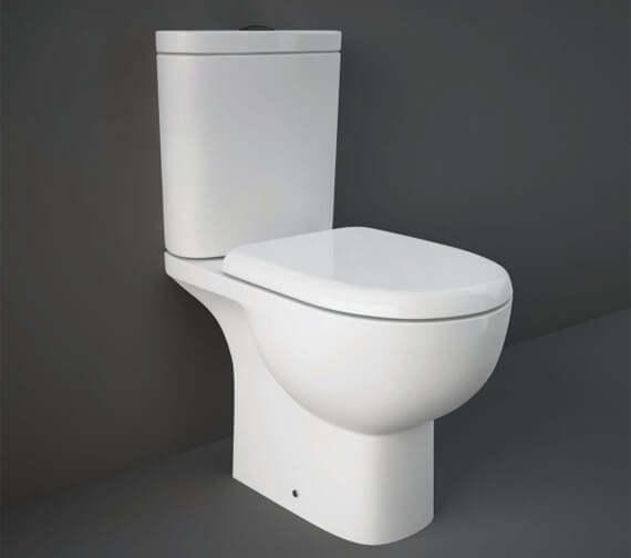 RAK Tonique Full Access Open Back Close Coupled WC Pack With Urea Soft Close Seat