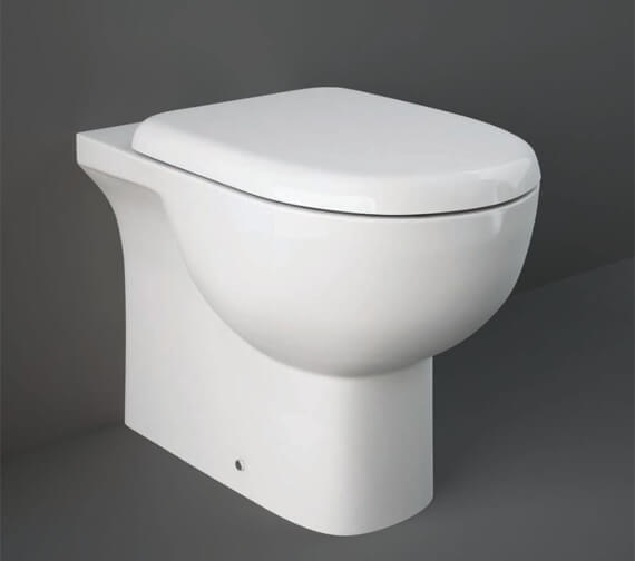 RAK Tonique Floor Standing Back-To-Wall WC Pan With Soft Close Seat