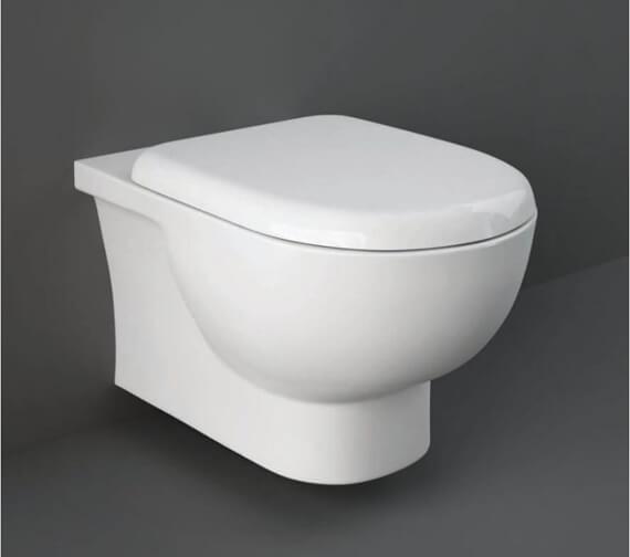 RAK Tonique Rimless Wall Hung Pan With Hidden Fixation And Soft Close Seat