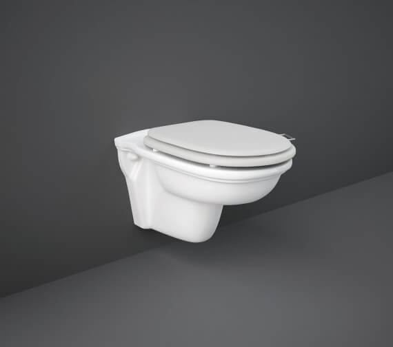 Rak Washington Wall Hung Pan With Matt White Soft Close Seat