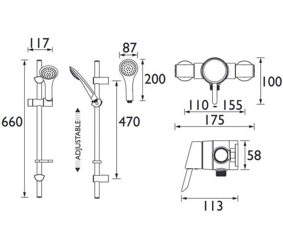 Technical drawing QS-V63009 / AE SHXAR C