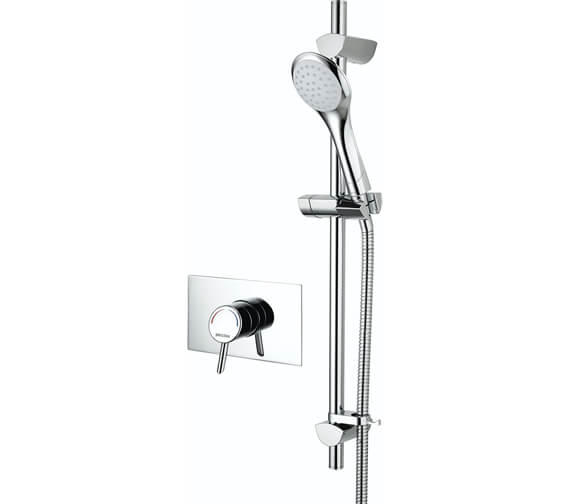 Additional image of Bristan Acute Thermostatic Surface Mounted Shower Valve With Adjustable Riser Rail