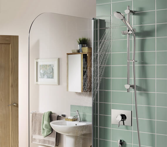 Alternate image of Bristan Acute Thermostatic Surface Mounted Shower Valve With Adjustable Riser Rail