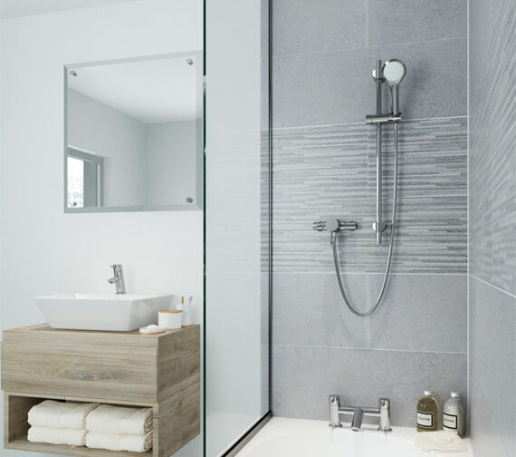 Bristan Acute Thermostatic Surface Mounted Shower Valve With Adjustable Riser Rail