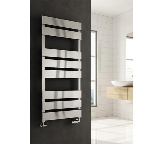 Alternate image of Reina Fermo 480mm Wide Flat Panel Aluminium Towel Rail