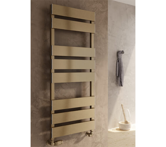Additional image of Reina Fermo 480mm Wide Flat Panel Aluminium Towel Rail