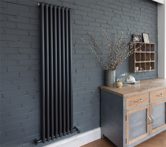 Bisque Tetro Wall Mounted Aluminium Column Radiator