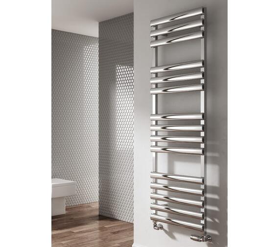 Alternate image of Reina Veroli 480mm Wide Aluminium Heated Towel Rail