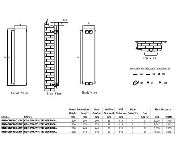 Technical drawing QS-V90607 / RND-CNV18030W