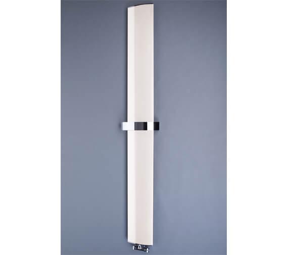 Bisque Svelte 300mm Wide Aluminium Towel Radiator