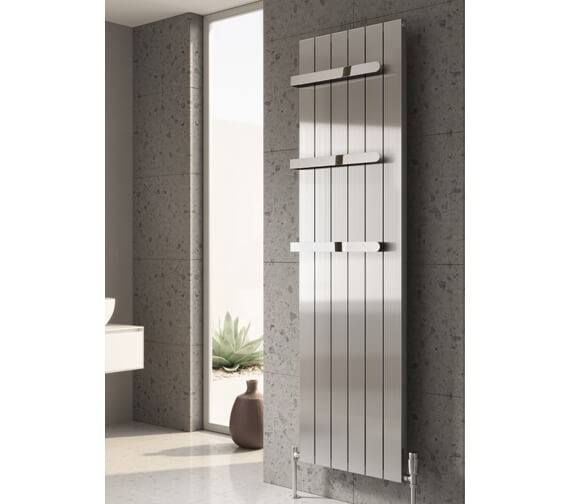 Reina Polito 1800mm High Vertical Aluminium Radiator Polished
