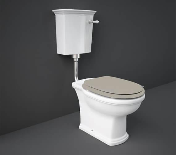 Additional image of RAK Washington Low Level WC Pack With Matt White Soft Close Wood Seat