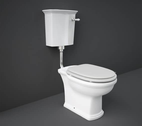 RAK Washington Low Level WC Pack With Matt White Soft Close Wood Seat